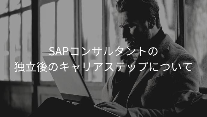 SAPコンサルタントの独立後のキャリアステップについて