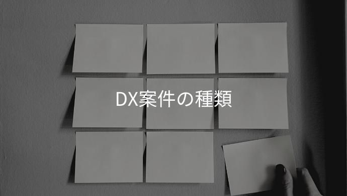 DX案件の種類